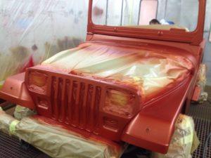mise en peinture de carrosserie auto