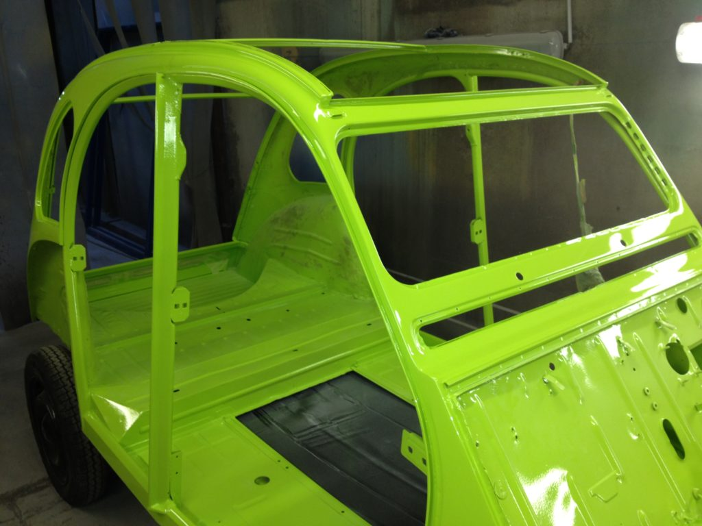 sablage et mise en peinture de carrosserie auto